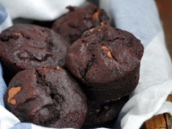Шоколадные маффины с льняной мукой