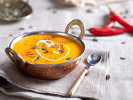 Крем-суп из тыквы с перцем чили и молоком кокоса