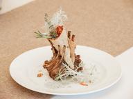 Каре молодого теленка с овощной сальсой в лаваше