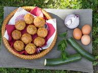 Мини-кексы с мятой и кабачком
