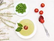 Крем-суп из зеленого горошка и сыра Маскарпоне