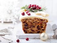 Рождественский кекс с клюквой и пеканом