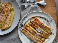 Карамельные блины с сыром