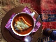 Томатный суп с мускатным орехом