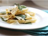 Паста со шпинатом и сырным соусом