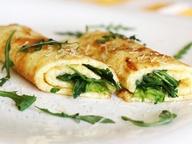 Омлет с зеленым салатом и сыром DŽIUGAS®