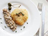 Филе куриное  в сыре DŽIUGAS® с грибным соусом