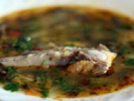 Суп с ребрышками и шампиньонами