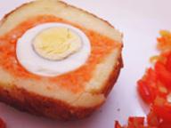 Яйца в дипе из картофеля и моркови