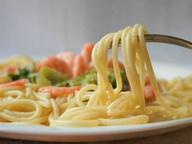 Спагетти с брокколи и креветками