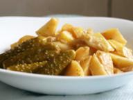 Картофель, тушенный в соевом соусе