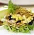 Салат из куриного филе  с черносливом под  соусом-коктейль