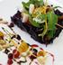 Салат из краснокочанной капусты с медовой тыквой и кальмарами