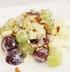 Фруктовый салат с виноградом и грушей