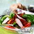 Салат с индейкой и шпинатом