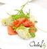 Картофельный салат с копчёным лососем и каперсами