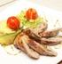 Свинина с баклажаном и шпинатом