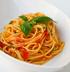 Итальянская паста с чесноком и помидорами