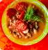 Фасолевый суп с ажгоном и запеченным черри