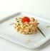 Салат типа «Оливье» с красной икрой и лососем