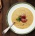 Гороховый суп из свиной рульки с гренками