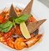Соте из морепродуктов в томатно-винном соусе