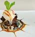 Шоколадные маффины с кленовым сиропом и ванильным мороженым