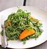 Салат из рукколы и абрикосов с козьим сыром и прошутто