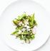 Салат из молодого зеленого горошка с редисом и сыром Фета