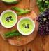 Суп из свежего гороха с мятой и кокосовым молоком