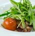 Теплый салат с рукколой и белыми грибами