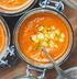 Морковно-кокосовый суп с помидорами и кукурузой