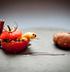Halloween: помидор с начинкой из сухофруктов в пряном сиропе