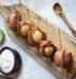 Канапе из картофеля и бекона с соусом Айоли