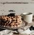 Миндальные вафли из цельнозерновой муки с ванильным сиропом