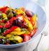 Салат из запеченных перцев с каперсами