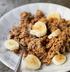 Овсянка с бананом и арахисовым маслом