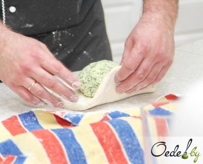 Осетинский пирог с сулугуни фото 6